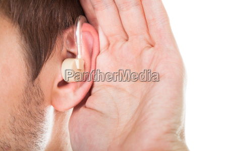 ear with hearing aid