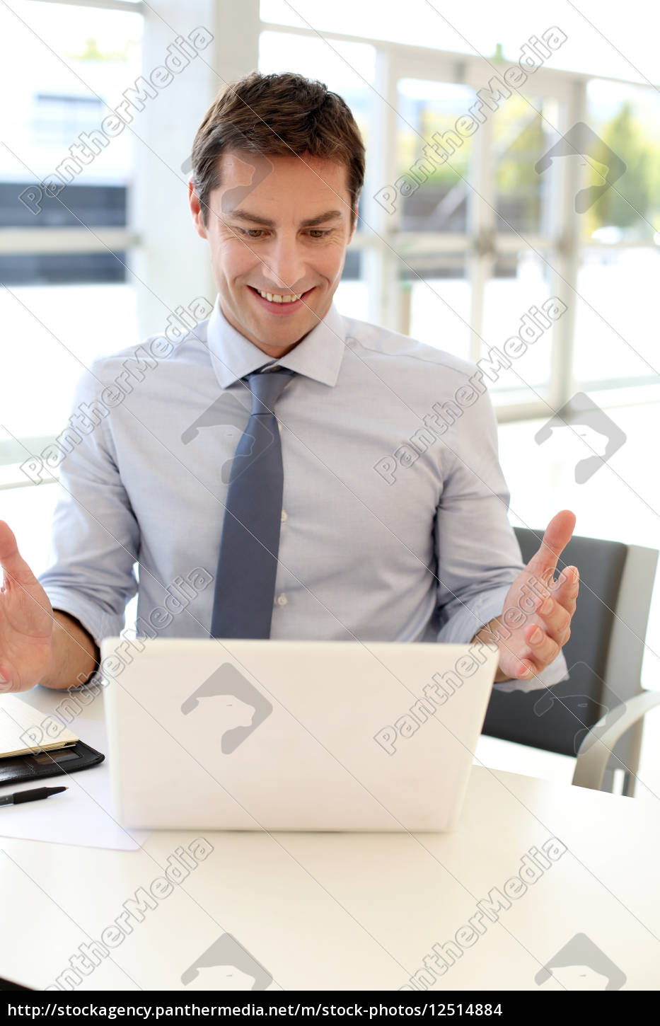 businessman, in, front, of, laptop, reading - 12514884