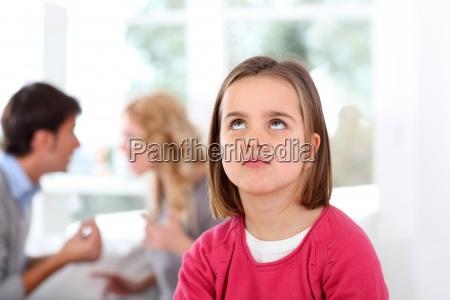 portrait, of, upset, child, with, parent's - 12520130