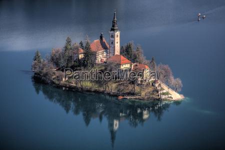 lake bled island slovenia