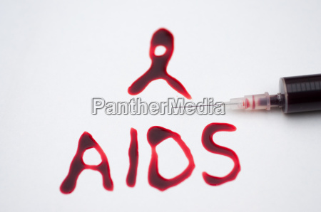 aids loop written with real blood