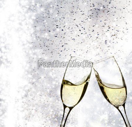 champagne, glasses - 12523060