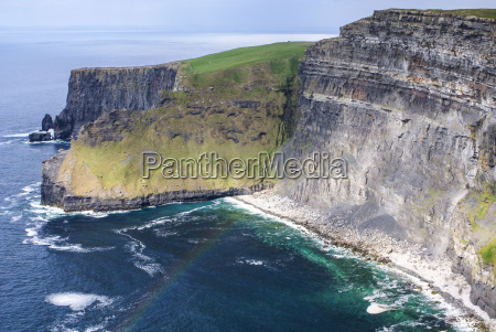famous cliffs of moher with tower