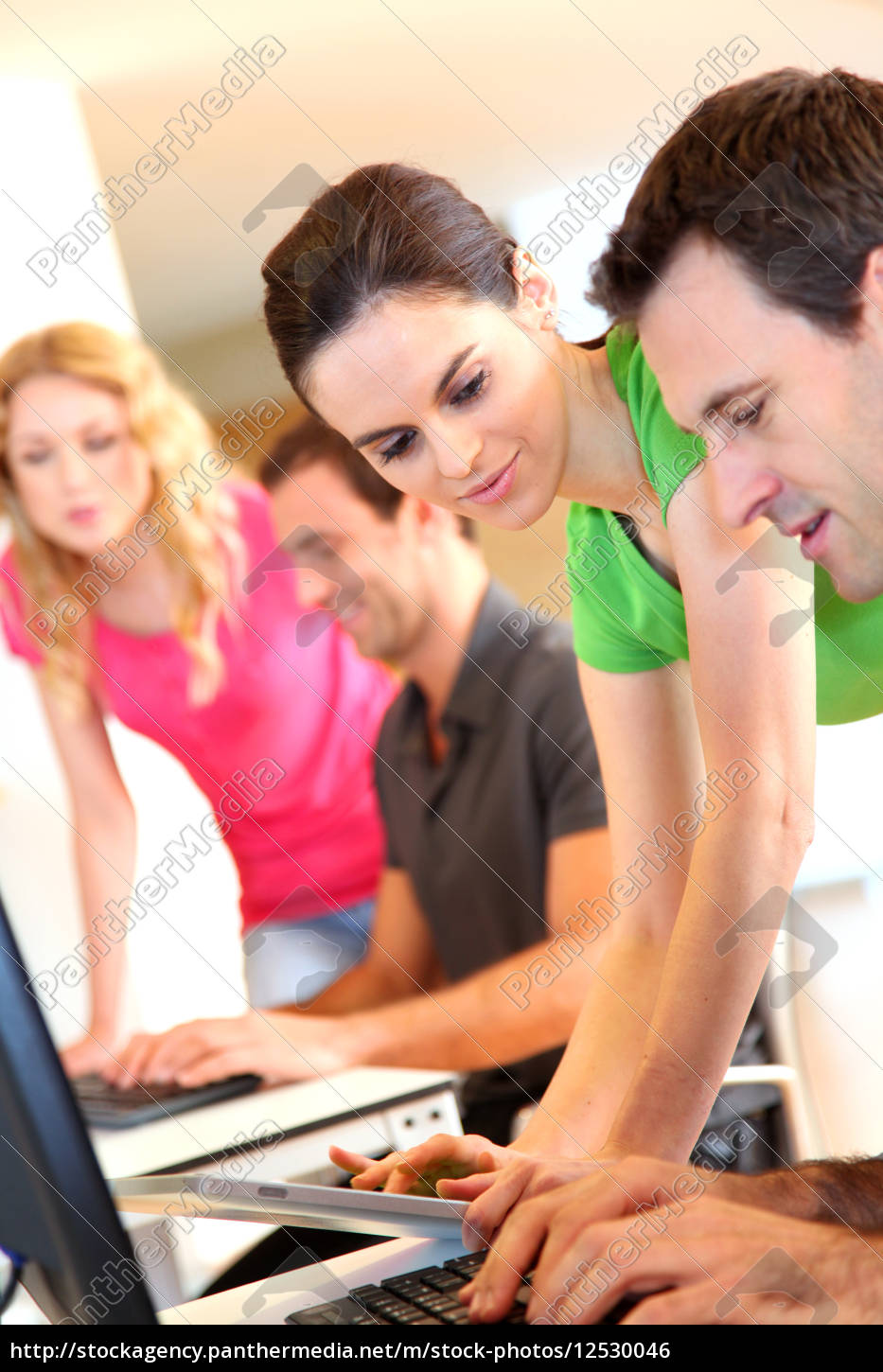 students, in, computing, training, class - 12530046