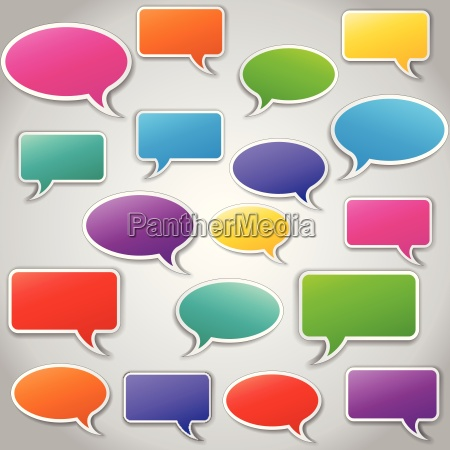 vector set of speech bubbles