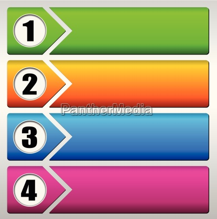 vector four steps background