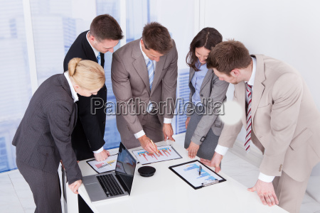 business, people, working, at, conference, table - 12535996