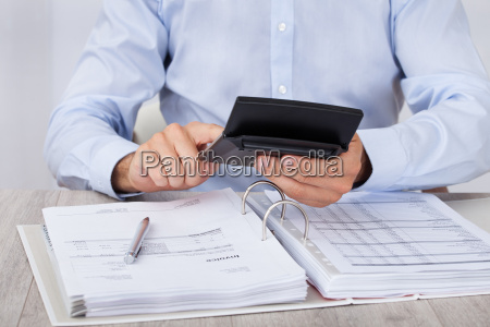 businessman, calculating, financial, expenses - 12540318