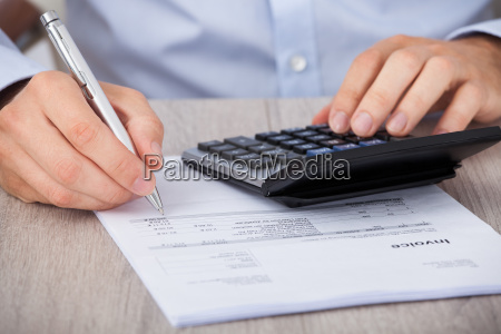 businessman, calculating, financial, expenses - 12540322