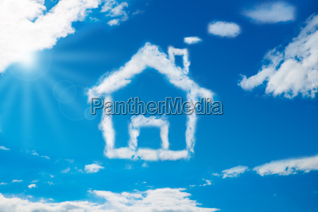 house, shaped, cloud, in, the, blue - 12541874