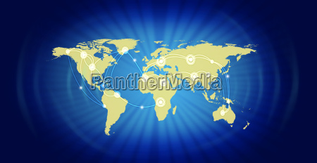 world map representing global business