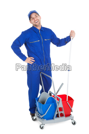 confident cleaner showing thumbs up
