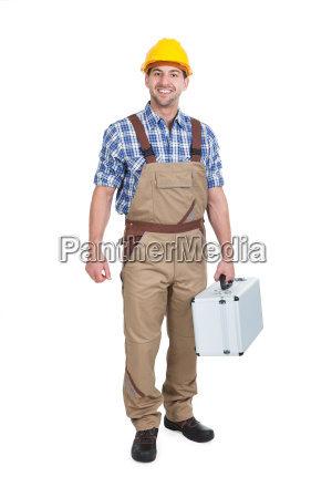 manual, worker, with, toolbox - 12542552