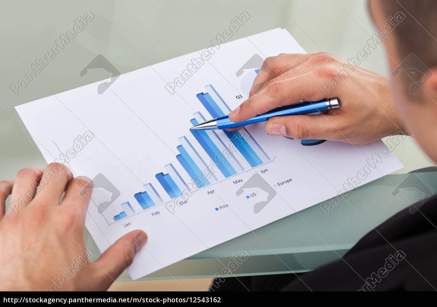 cropped, image, of, businessman, analyzing, bar - 12543162