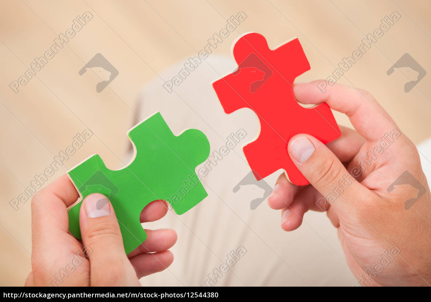 man, joining, puzzle, pieces - 12544380