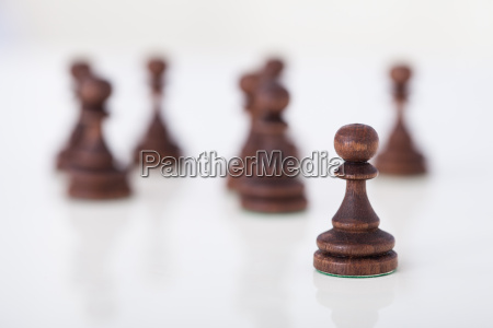chess pieces on table