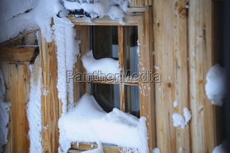 light window winter snow heat insulation