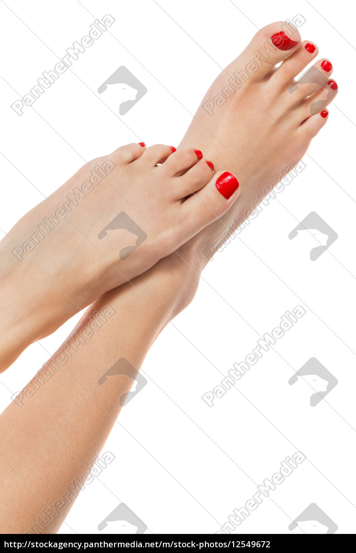 slim, sexy, female, feet, with, carefully - 12549672