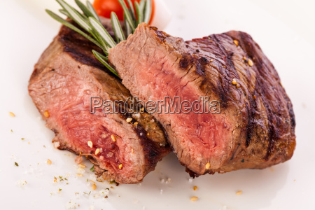 medium roast beef steak filet with