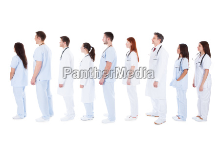 large group of medical staff standing