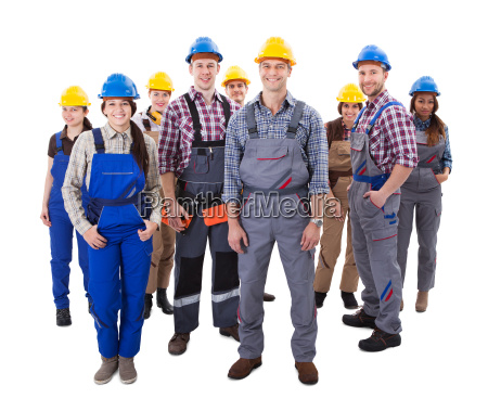 confident, diverse, team, of, workmen, and - 12552550