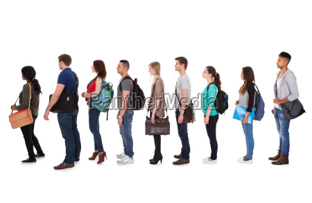 multiethnic college students standing in a