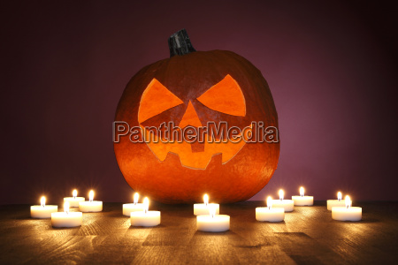 pumpkin, on, red, background, for, halloween - 12556106