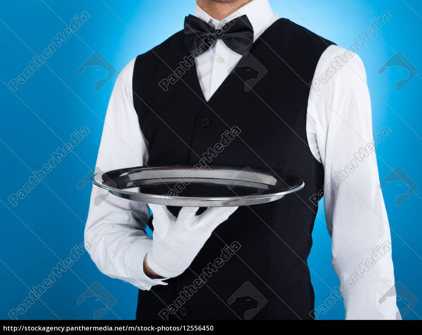 waiter, carrying, empty, tray - 12556450