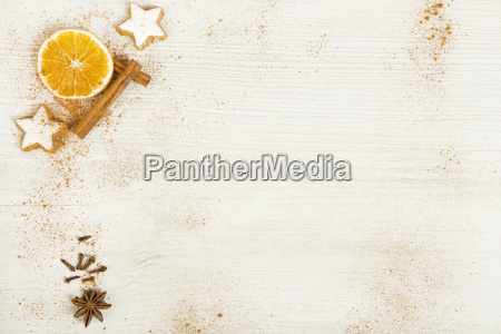 white background with christmas decoration