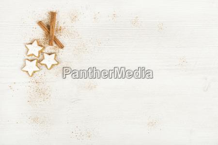 white, background, with, cinnamon, stars - 12557628
