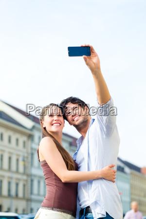tourists in munich take a trip