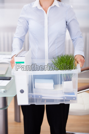 businessperson, carrying, office, supply - 12558188