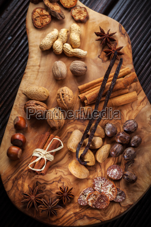 christmas spices and baking ingredients