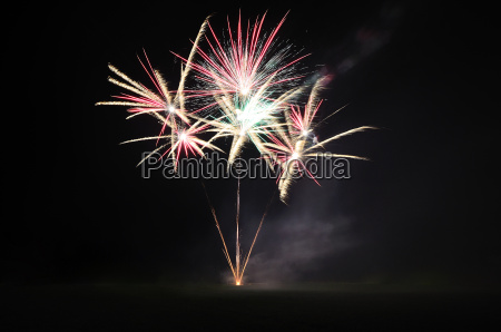 beautiful fireworks at an event