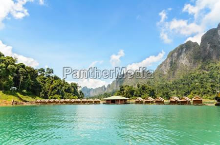 bamboo, floating, resort - 12562946