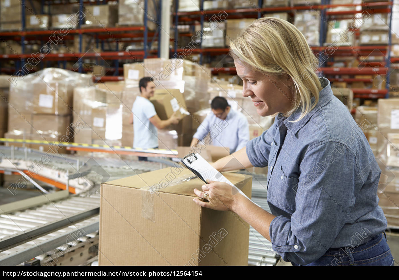 workers, in, distribution, warehouse - 12564154