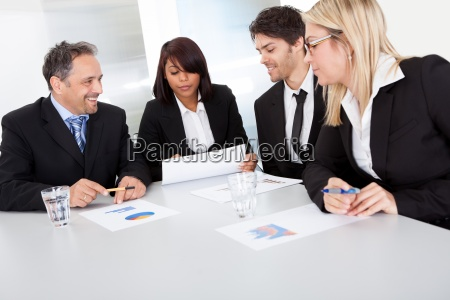 group of business people at the