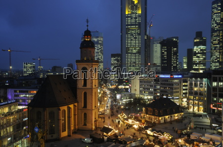 christmas at the hauptwache in frankfurt