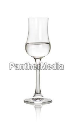 filled glass grappa