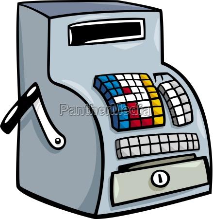till or cash register cartoon clip
