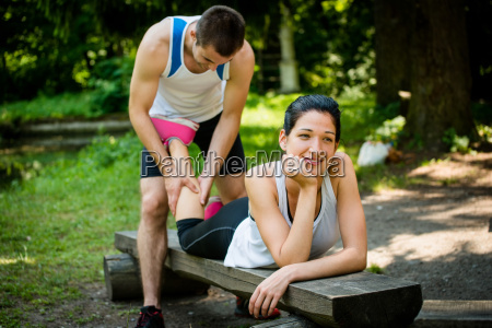 massage after jogging