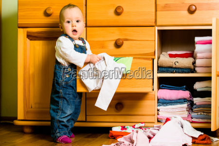 domestic chores baby throws out