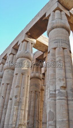 papyrus columns in luxor temple egypt