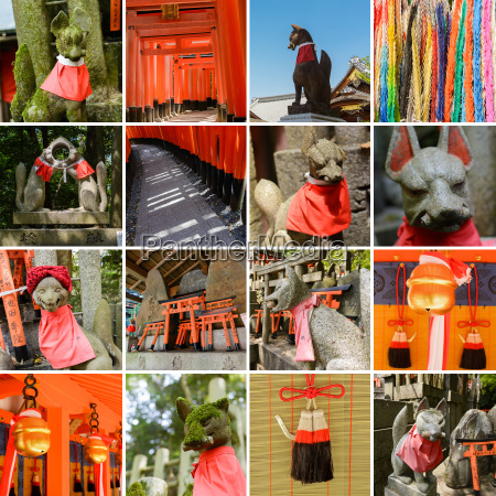 collection of fushimi inari taisha shrine