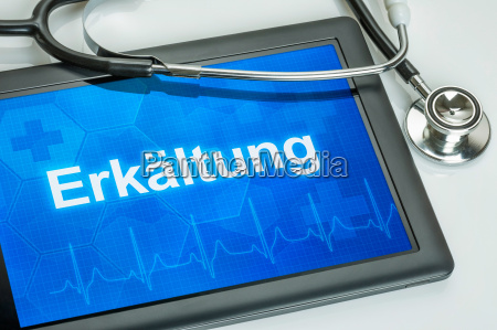 tablet with the diagnosis of a