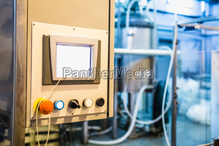 control panel on manufacture