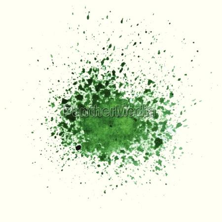 abstract green watercolor blot