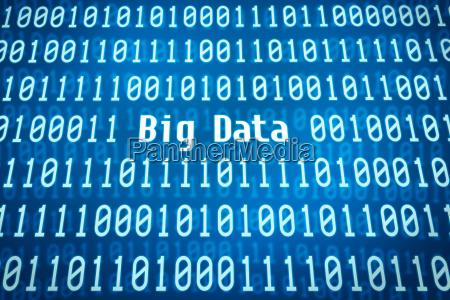 binary code with the word big