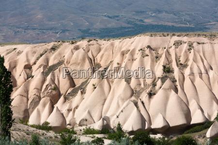 volcanic rock landscape goreme cappadocia uchisar