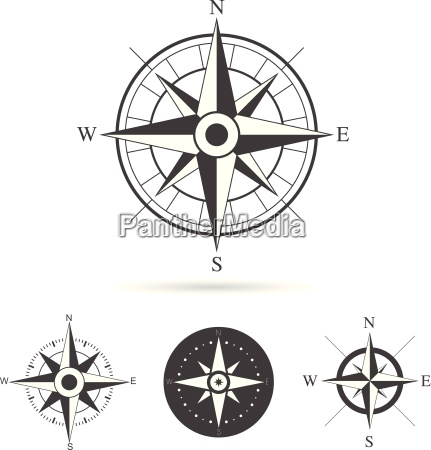 compass, rose, vector, collection - 12634170